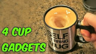 Repeat youtube video 4 Cup Gadgets Test