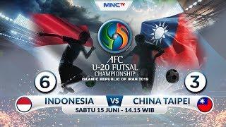 INDONESIA VS CHINA TAIPEI - (FT: 6-3)  AFC U20 Futsal Championship 2019