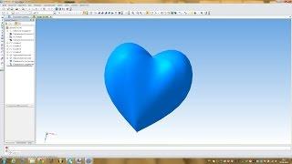Компас 3D уроки- как сделать 3D модель сердца