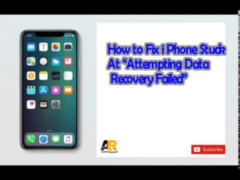 How to Fix iPhone Stuck At Attempting Data Recovery Failed  YouTube