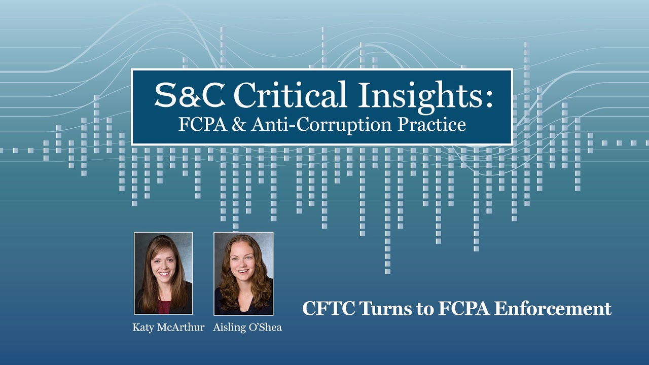 CFTC Turns to FCPA Enforcement