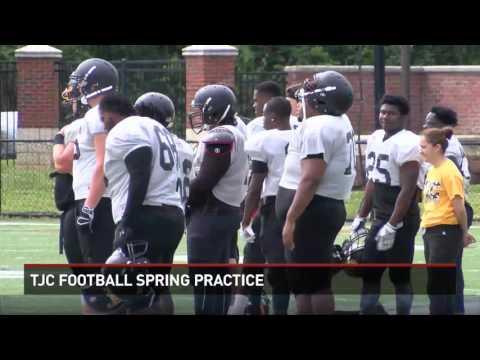 TJC Football Spring Practice
