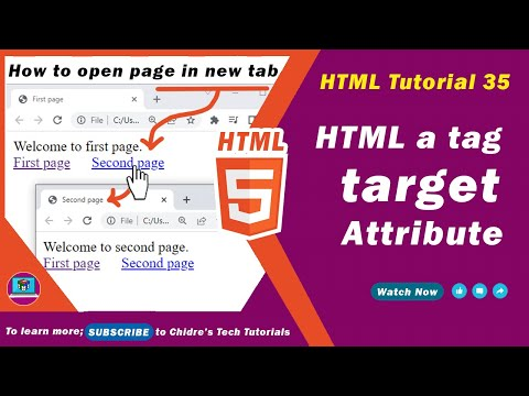 HTML video tutorial - 35 - html target attribute