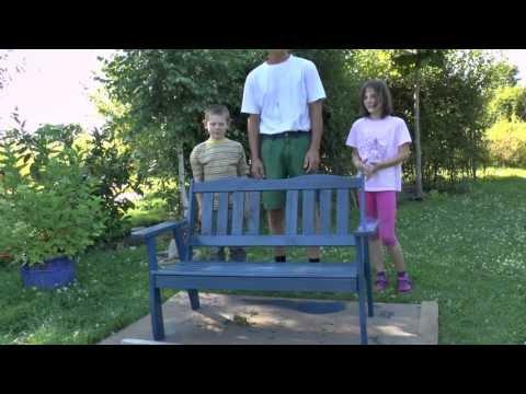 Bevorzugt Gartenbank wird aufgemöbelt, von meinen Kindern :) - YouTube OM58