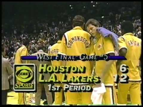 NBA - 1986 West Conference Finals - Game 5 - The Forum - Los Angeles Lakers VS Houston Rockets