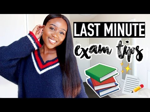 Last Minute Exam Tips That Will (LITERALLY) Save Your Life!