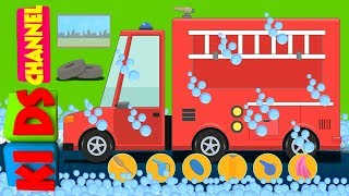 kids channel | fire truck | car wash song for children | learning video