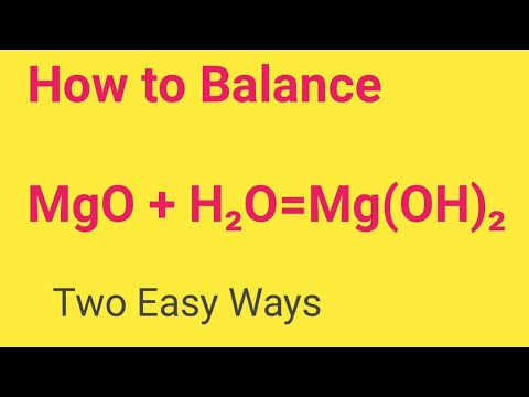 MgO+ H2O=Mg(OH)2 Balanced Equation||Magnesium Oxide +Water=Magnesium Hydroxide Balanced Equation