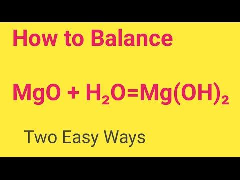 MgO+ H2O=Mg(OH)2 Balanced Equation||Magnesium Oxide +Water=Magnesium hydroxide Balanced Equation