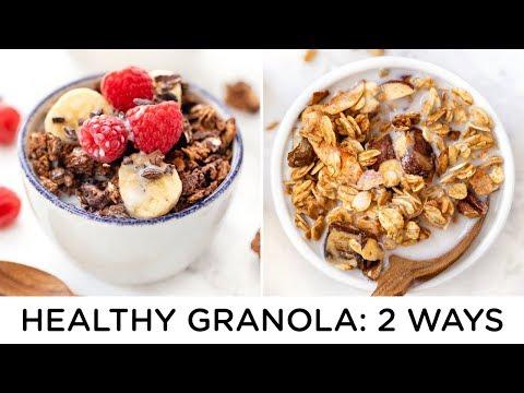HEALTHY GRANOLA RECIPES ‣‣ how to make granola 2 ways
