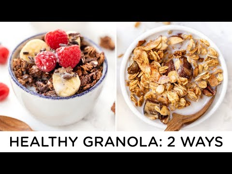 HEALTHY GRANOLA RECIPES ‣‣ how to make granola 2 ways