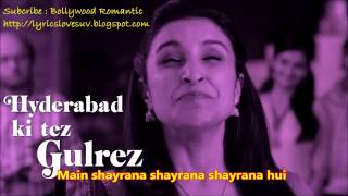 SHAYRANA Song with Lyrics - Daawat-e-Ishq ( Lyrics Lovesuv )