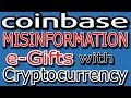 Coinbase Misinformation about e-Gifts & Amazon