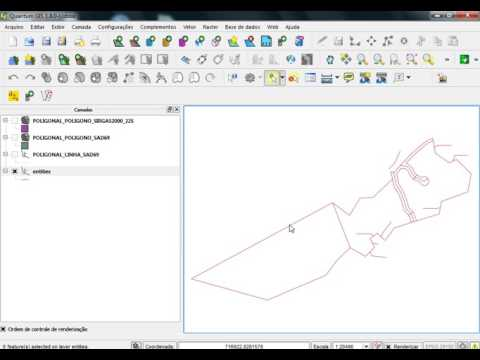 AutoCAD X Shapefile no QGIS - Convertendo camadas de RL e Rio