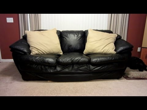 best way to fix a sofa bed air mattress for beds how sagging couch quick and easy youtube