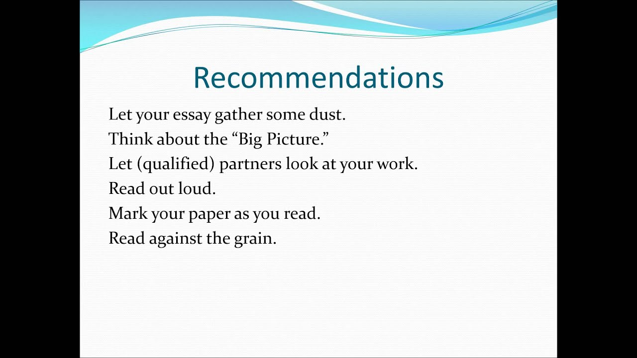 "important components to look for when revising an essay Home academic resource center writing center writing tips  four components of effective body of an effective essay: important ways to ""link."