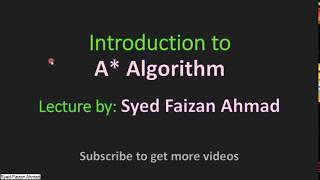 Simple A* algorithm explanation with example | Hindi/Urdu | A* algo tutorial | Gate Preparation 2018