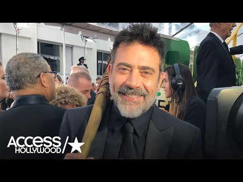 Golden Globes: 'Walking Dead's' Jeffrey Dean Morgan Poses With 'Lucille,' Teases Midseason Premiere