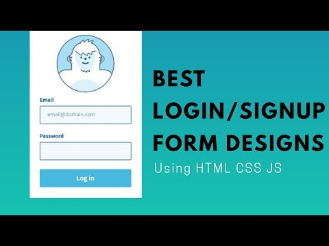 Best LOGIN/SignUp Form Animation Designs Created Using- HTML CSS JS