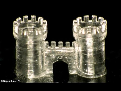 You can now 3D print with GLASS : Tiny, complex structures showcase the future of construction