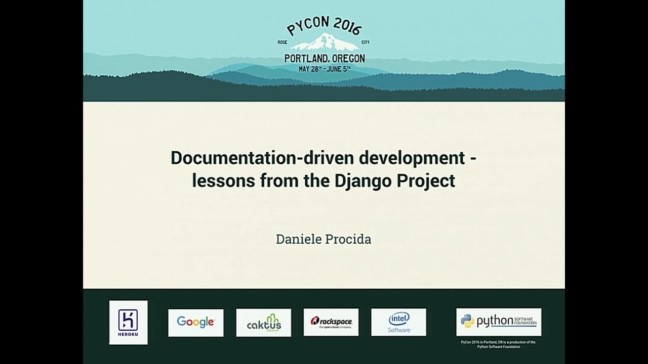 Image from Documentation-driven development - lessons from the Django Project
