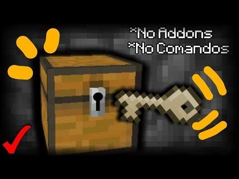 ¡Como Hacer Un Cofre Con Llave En Minecraft 1.2! | Sin Addons Ni Comandos!!!