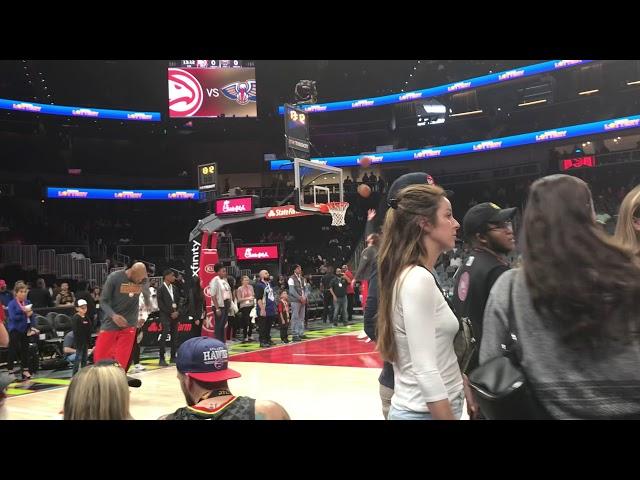 Atlanta Hawks Warming Up ... Hawks vs Pelicans ... 3/10/19