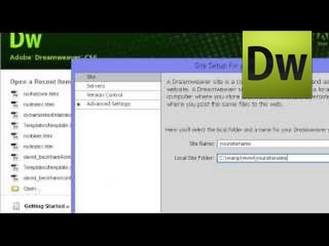 Adobe Dreamweaver / Creating Dynamic Website
