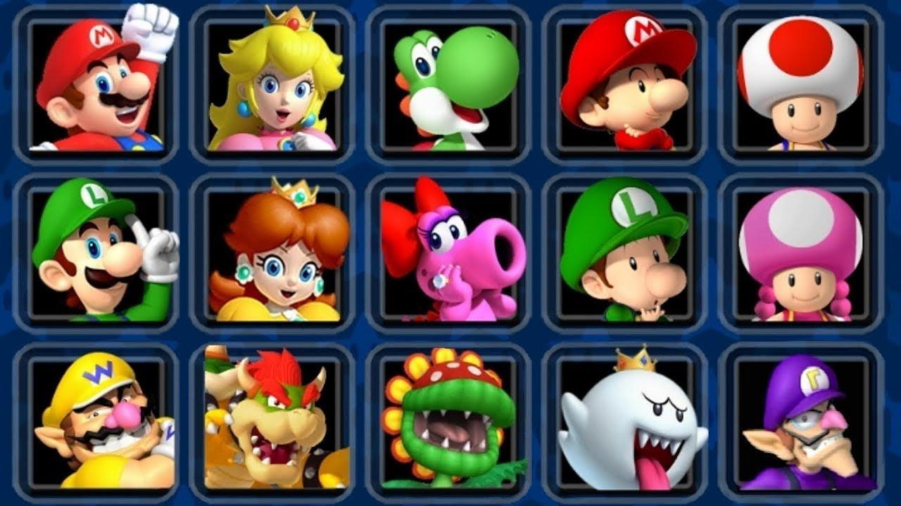 Mario Kart Double Dash Hd All Characters Youtube