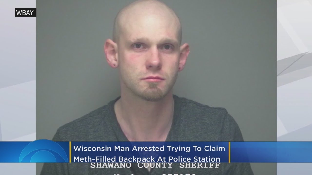 "WISCONSIN ""HIGH IQ"" CLAIMS METH-FILLED BACKPACK @ POLICE STATION"