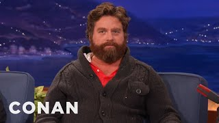 Zach Galifianakis Busts Through Conan's Desk - CONAN on TBS