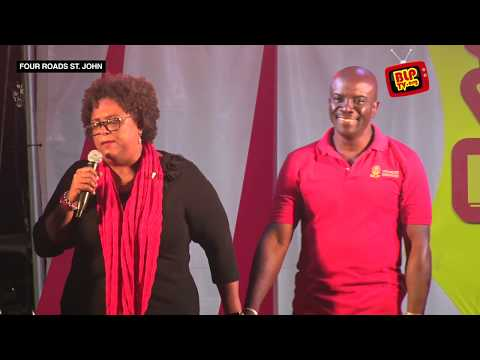 Party Leader Mia Amor Mottley at a Public Meeting at Four Roads in St. John