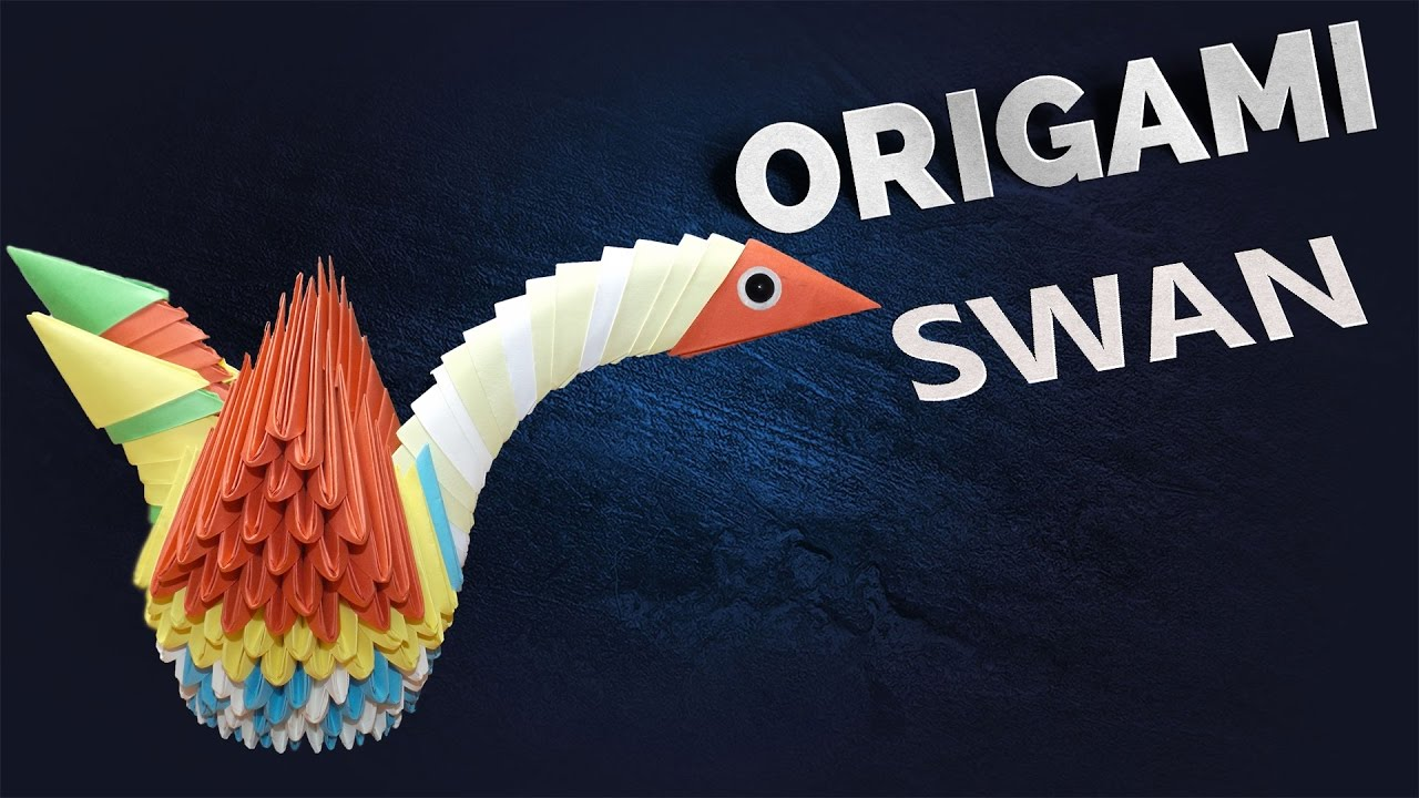 How To Make A 3d Origami Swan Step By Youtube Diagram Http Com