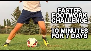 How to improve your footwork in soccer | 10 Soccer drills for faster soccer footwork