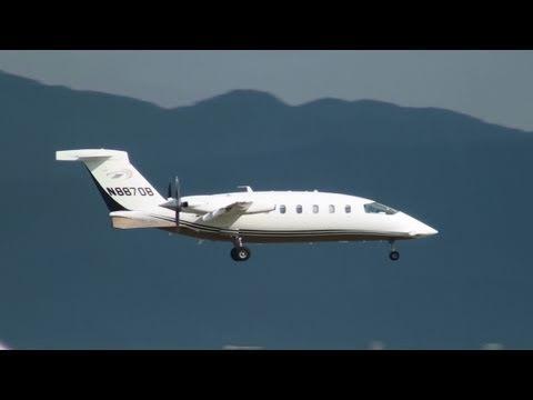 Piaggio P-180 Avanti N8870B LANDING KANSAI Intl Airport,JAPAN 関西空港 2011.7.17