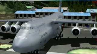 Lockheed C-5 Galaxy unbeliveable takeoff at Lukla