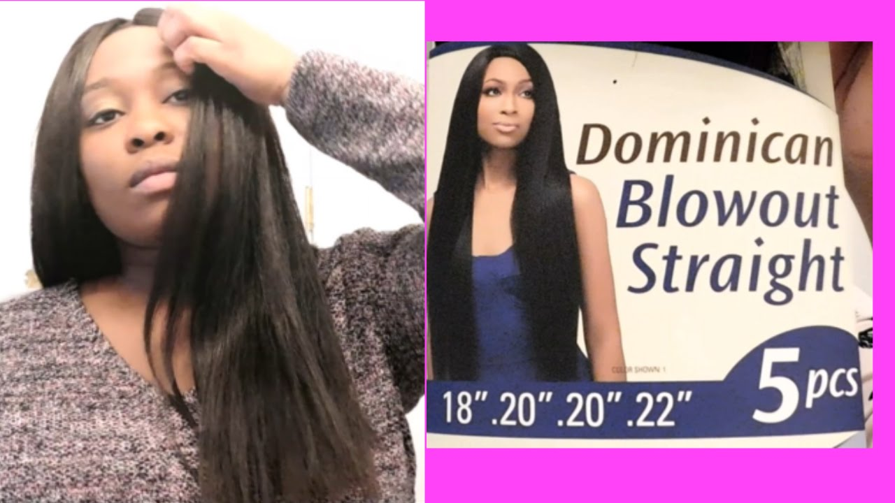 Sew In Tutorial With Outre Dominican Blowout Straight Invisible