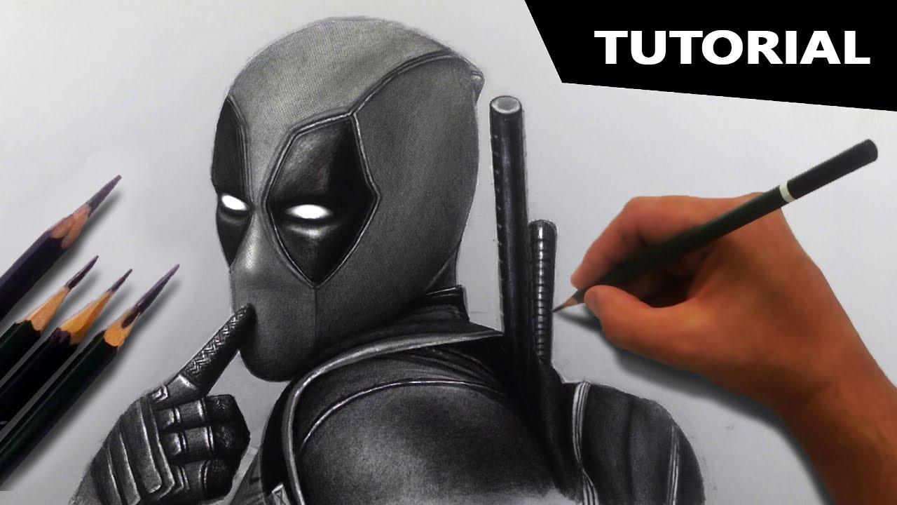 Draw Deadpool Step By Step Tutorial Easiest Method