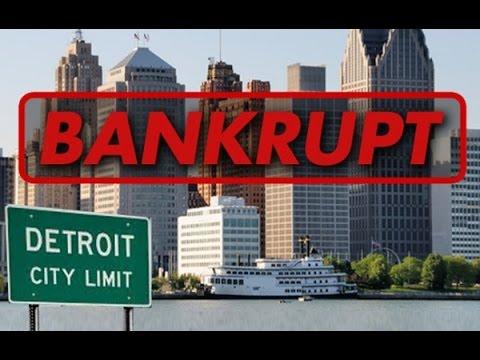 Первый город банкрот в США - Детройт