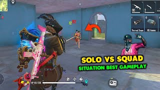 Solo vs Squad Situation M82B is Unfair Must Watch Gameplay - Garena Free Fire