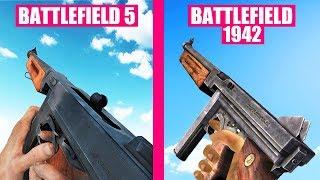 Battlefield 1942 vs Battlefield 5 Weapons Comparison