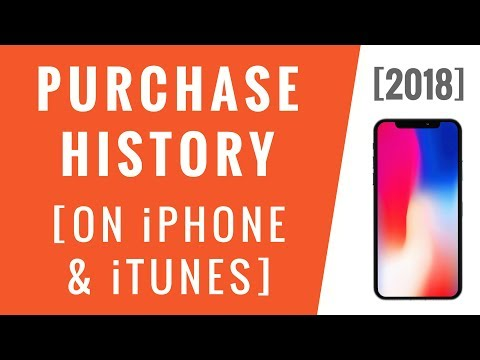 iTunes Purchase History [2018]