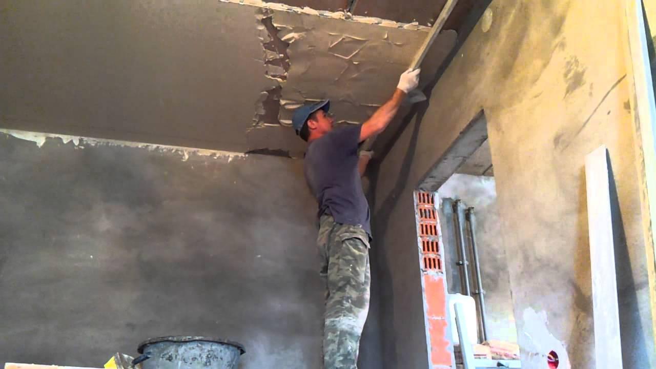 Оштукатуривание потолка цементным раствором куб бетона б25