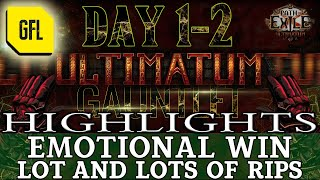 Path of Exile 3.14: ULTIṀATUM GAUNTLET DAY #1-2 Highlights MANY RIPS, EMOTIONAL VICTORY and more...