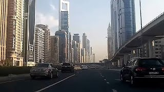 Driving through Dubai, UAE - (Sun, Oct 30, 2016)