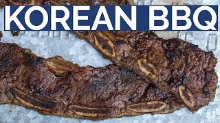 KOREAN BEEF SHORT RIBS     LA Galbi style