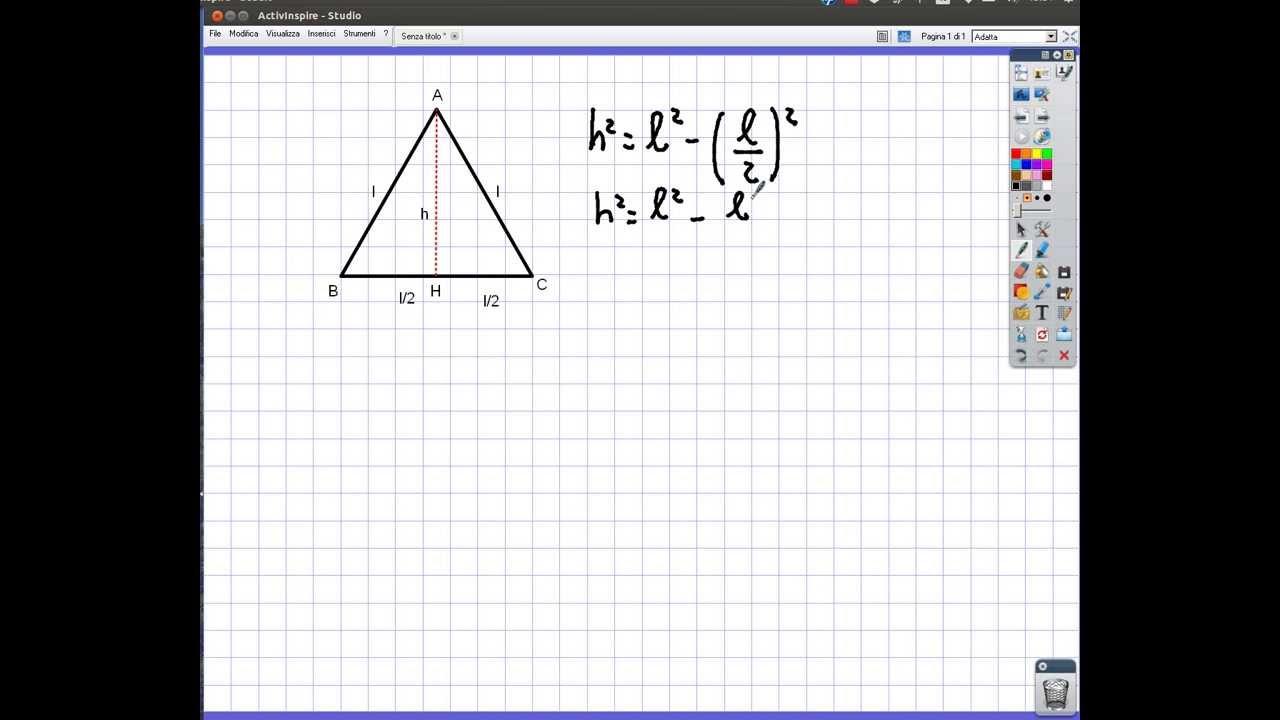 Applicazione Del Teorema Di Pitagora Al Triangolo Equilatero