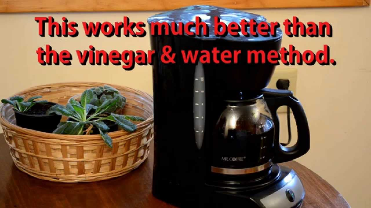 How To Clean A Mr. Coffee Maker with CLR substitute called ZEP! - YouTube