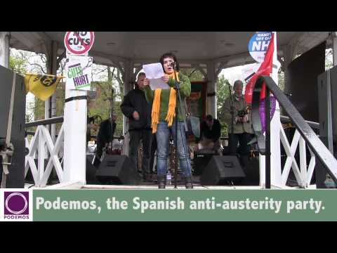 Podemos, the Spanish anti austerity party,