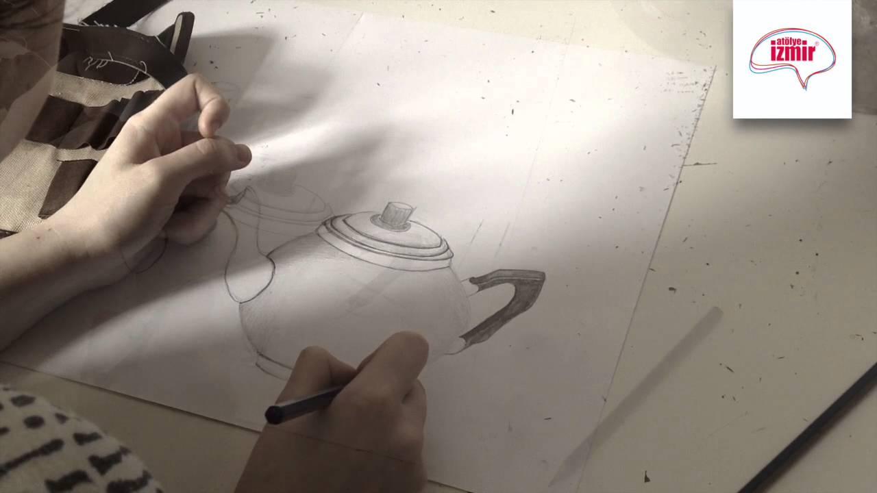 Aşamalarında bir sürahi nasıl çizilir